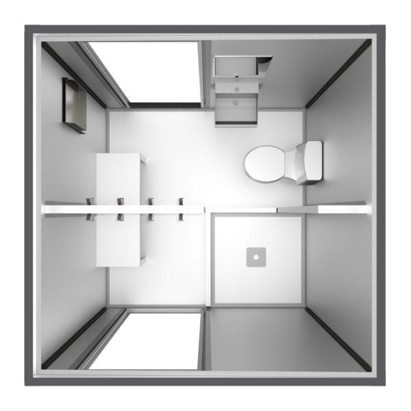 Vestidor sanitaro 2x2